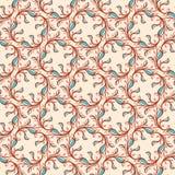 Bloemenpatroon met roze en blauwe bladeren Stock Foto's