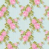 Bloemenpatroon met roze rozen Vector bloemenachtergrond Gemakkelijk uit te geven Perfectioneer voor uitnodigingen of aankondiging Royalty-vrije Stock Afbeeldingen
