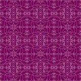 Bloemenpatroon op de violette achtergrond Royalty-vrije Stock Fotografie