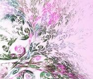 Bloemenpatroon op een lichte achtergrond Royalty-vrije Stock Foto