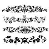 Bloemenpatroon reeks-Vector Royalty-vrije Stock Afbeeldingen