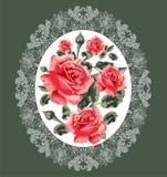Bloemenpatroon (rozen) Stock Foto