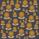 Bloemenpatroon in Skandinavische stijl vectorillustratie Royalty-vrije Stock Afbeeldingen
