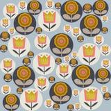Bloemenpatroon in Skandinavische stijl vectorillustratie Royalty-vrije Stock Fotografie