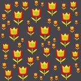 Bloemenpatroon in Skandinavische stijl vectorillustratie Stock Afbeelding