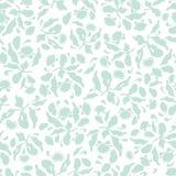 Bloemenpatroon van de pastelkleur het blauwe volkskunst vector illustratie