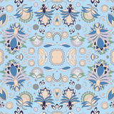 Bloemenpatroon van de voorraad het naadloze krabbel oriënteer Abstracte B vector illustratie