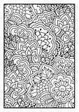 Bloemenpatroon voor het kleuren van boek Royalty-vrije Stock Fotografie