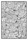 Bloemenpatroon voor het kleuren van boek Stock Afbeelding