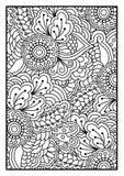 Bloemenpatroon voor het kleuren van boek Royalty-vrije Stock Afbeelding