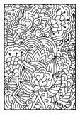 Bloemenpatroon voor het kleuren van boek Stock Foto