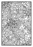 Bloemenpatroon voor het kleuren van boek Stock Fotografie