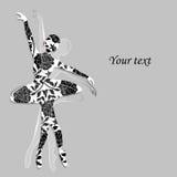 Bloemenpatroon in vorm van een ballerina royalty-vrije illustratie