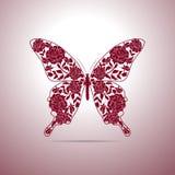 Bloemenpatroon in vorm van een vlinder stock illustratie