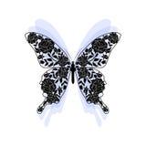 Bloemenpatroon in vorm van een vlinder vector illustratie