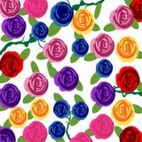 Bloemenpatroonachtergrond Stock Foto