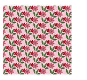 Bloemenpatroonachtergrond met bladeren Stock Fotografie