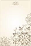Bloemenpatroondocument achtergrond Stock Afbeeldingen