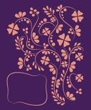 Bloemenpatroonprentbriefkaar, vectorillustratie stock illustratie