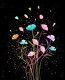 Bloemenregeling met Bloemblaadjes Achtergrondontwerp stock illustratie