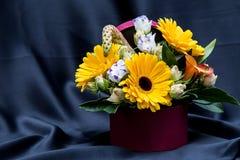 Bloemenregeling met diverse de lentebloemen Royalty-vrije Stock Foto's