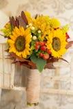 Bloemenregelings de herfst als thema gehad huwelijk Royalty-vrije Stock Afbeeldingen