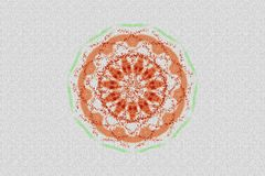 Bloemenrose mosaic textured pattern royalty-vrije illustratie