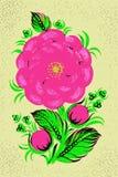 Bloemensamenstelling in retro stijl Royalty-vrije Stock Afbeelding