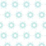 Bloemensneeuwvlokpatroon Stock Afbeeldingen