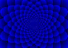 Bloemenspiralenblauw Royalty-vrije Stock Foto's