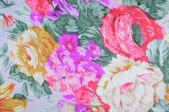 Bloemenstoffenachtergrond Stock Afbeelding