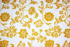 Bloemenstoffendetail Royalty-vrije Stock Fotografie