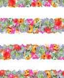 Bloemenstreepdruk Stock Foto's