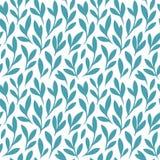 Bloementakken met bladeren decoratief patroon stock illustratie