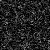 Bloementraceryornamenten van de lijnkunst Eindeloze textuur vector illustratie
