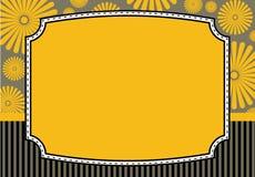 Bloemenuitnodigingskaart Stock Afbeelding