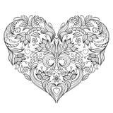 Bloemenvalentijnskaartenhart Royalty-vrije Stock Afbeeldingen