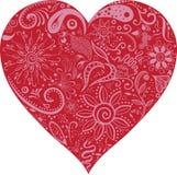 Bloemenvalentine heart-vector Royalty-vrije Stock Fotografie