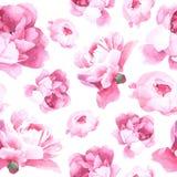 Bloemenwaterverf naadloos patroon Stock Foto's