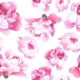Bloemenwaterverf naadloos patroon Royalty-vrije Stock Afbeeldingen