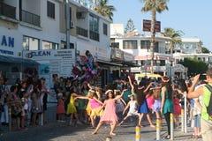 Bloemfestival Anthestiria 2016 in Paphos royalty-vrije stock afbeeldingen