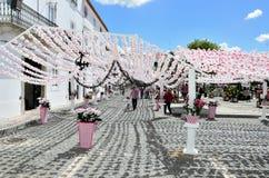 Bloemfestival (festas do povo, Campo Maior 2015, Portugal) Stock Foto's