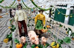 Bloemfestival (festas do povo, Campo Maior 2015, Portugal) Royalty-vrije Stock Afbeeldingen