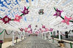 Bloemfestival (festas do povo, Campo Maior 2015, Portugal) Royalty-vrije Stock Fotografie