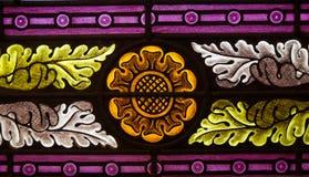 Bloemgebrandschilderd glas Stock Foto