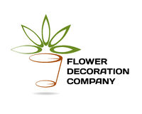 Bloemist/decorbedrijf logotype Stock Afbeelding