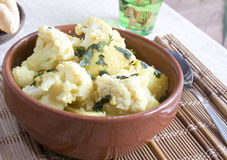 Bloemkool & aardappelskerrie Royalty-vrije Stock Fotografie