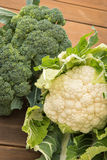 Bloemkool & Broccoli Royalty-vrije Stock Afbeeldingen