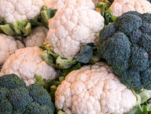 Bloemkool en Broccoli Royalty-vrije Stock Foto