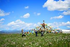 Bloemlandschap van Xi Ning van China royalty-vrije stock foto's